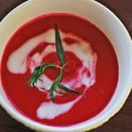 Beet soup with kefir
