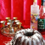 Chocolate bundt cake with cognac soaked cherries
