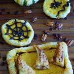 Halloween cinnamon apple pockets, made out of puff pastry