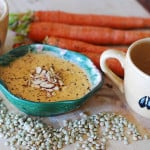 Carrot and lentils soup