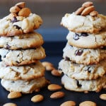 Soft yet crumbly chocolate chip almond cookies