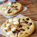 Chocolate chip and white chocolate chip cookies