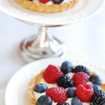 Berry tartlets with sweet and creamy kefir tart filling