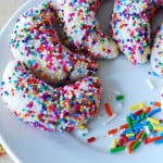 Almond crescent cookies with sprinkles