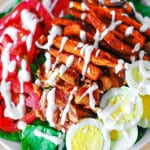 Sweet potato fry and BLT salad