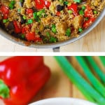 Spicy Asian eggplant and quinoa