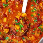 Butternut Squash Chili with Beef and Beans