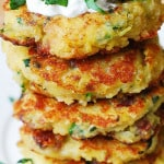 Quinoa, Spaghetti Squash, and Bacon Fritters