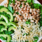 Caesar Salad with Cannellini Beans and Avocado