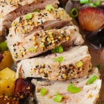 Baked Pork Tenderloin with Apples and Plums