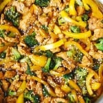 Chicken, Broccoli, and Bell Pepper Stir-Fry