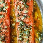 Trout with Caper-Garlic Lemon Butter Sauce