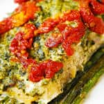 Pesto Sea Bass and Veggies