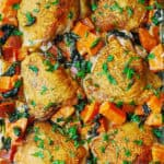 Chicken and Sweet Potatoes with Creamy Parmesan Sauce