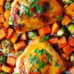 One-Pan Maple-Dijon Chicken with Winter Veggies