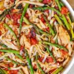 Tomato Asparagus Chicken Pasta