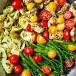 One-Pan Pesto Chicken, Tortellini, and Veggies