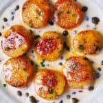 Seared Scallops with Creamy Lemon-Caper Sauce