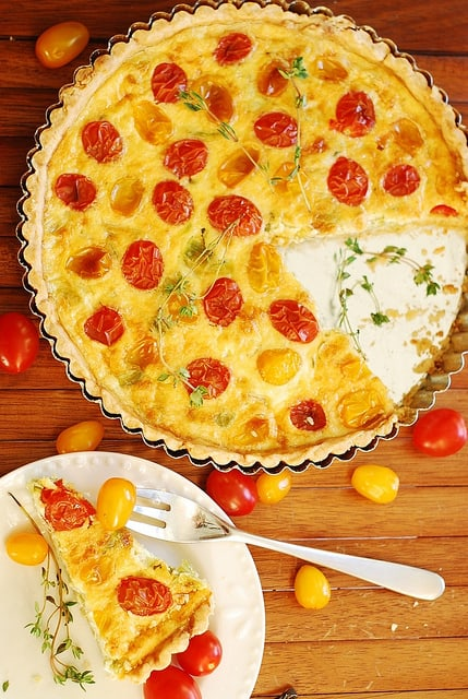Breakfast Egg and Gruyere Cheese Tart