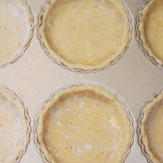 How to make tart crust for 6 tartlets (mini tart shells)