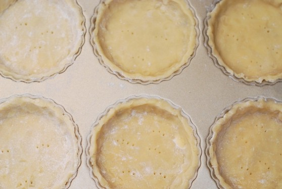 How to make sweet tart crust dough, recipe, for 6 small tartlets