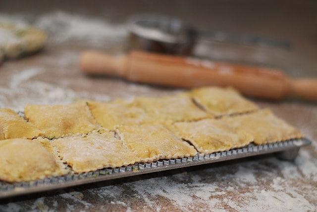 ravioli in a ravioli mold