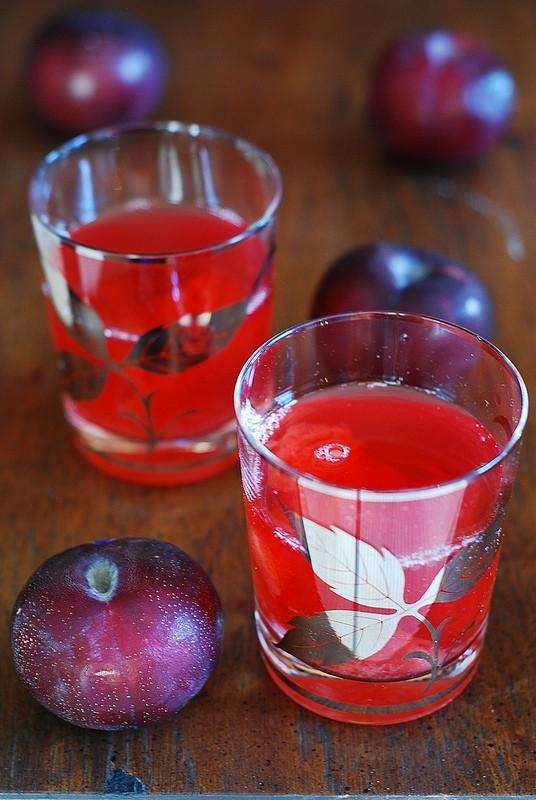 plum kompot fresh