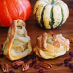 Halloween Mummy Pastries with Apples and Pears