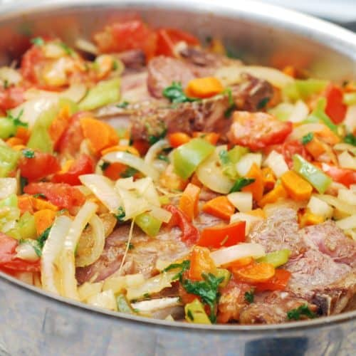 lagman lamb and vegetable stew