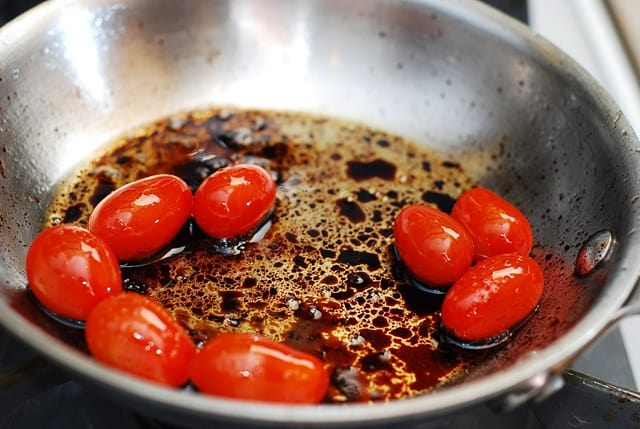 grape tomatoes and balsamic vinegar