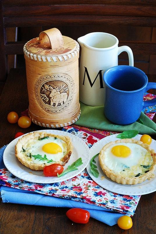 Baked bacon egg breakfast cups, breakfast tartlets