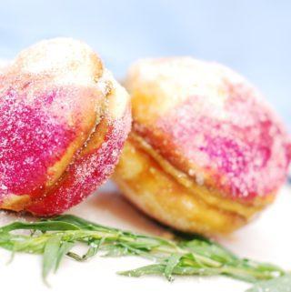peach cookies with dulce de leche filling