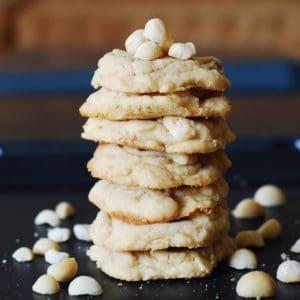 white chocolate chip macadamia cookies