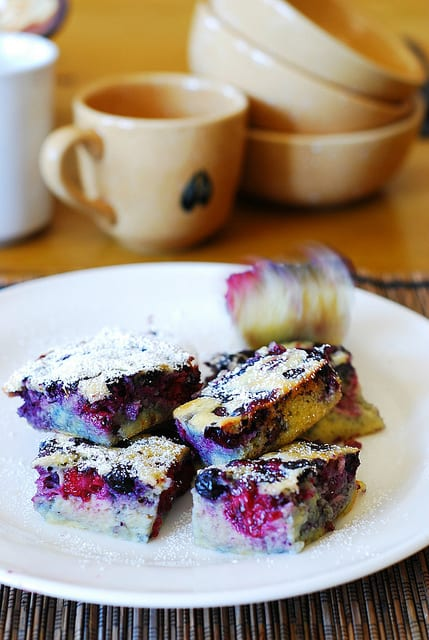 Berry clafoutis, berry desserts, berry recipes, blueberry recipes, blackberry recipes, raspberry recipes, summer desserts