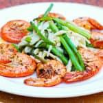garlic shrimp asparagus pasta