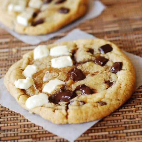 chocolate chip white chocolate chip cookies
