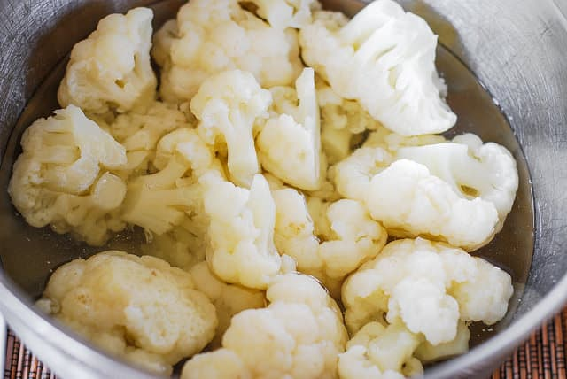 cooking cauliflower in hot water (step-by-step photos)