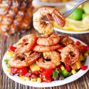 Southwestern Shrimp with Pineapple Salsa