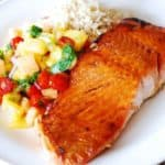 broiled salmon with mango salsa
