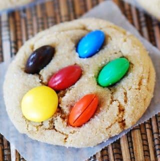 m and ms peanut butter cookies