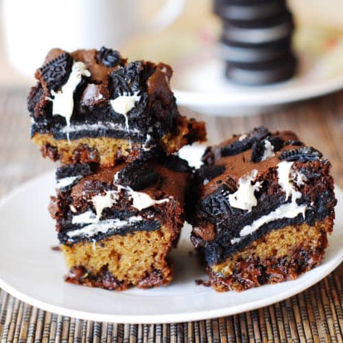 slutty brownies with white chocolate chips