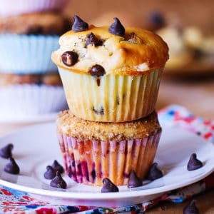 greek yogurt chocolate chip muffins