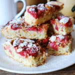 strawberry almond blondies