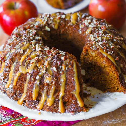 apple pumpkin bundt cake