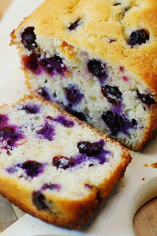 best blueberry bread, lemon blueberry loaf, berry recipes, berry desserts, blueberry desserts
