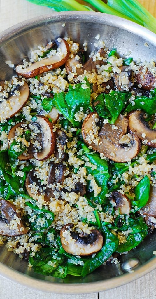 Spinach And Mushroom Quinoa Julia S Album
