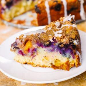 apple blueberry peach coffee cake
