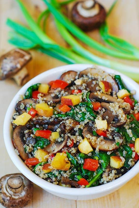 Quinoa with vegetables, quinoa recipes, vegetarian recipes