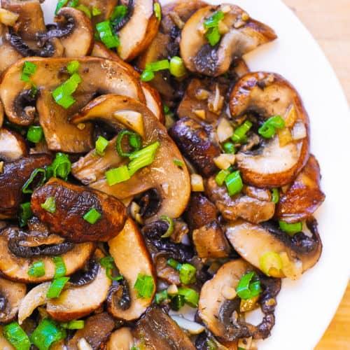 mushroom garlic saute (paleo, gluten free)