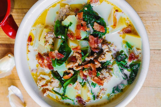 Olive Garden's Zuppa Toscana Soup with Swiss Chard